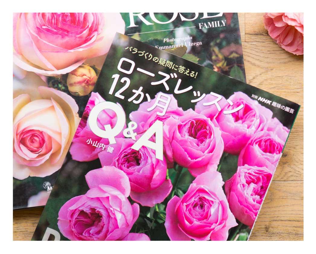 ベストセラー「ローズレッスン12ヵ月」をはじめ、バラに関する書籍はこちら