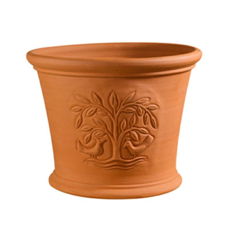 【テラコッタ鉢】ウィッチフォード ツリーオブライフ プランター M 349 英国 イギリス ハンドメイド ガーデニング 資材 植木鉢 園芸資材